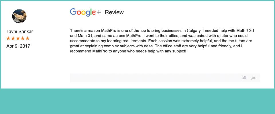 Tanvi Sankar reviewed MathPro